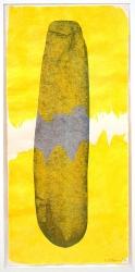 Ovale Form v. gelb 2002 Aquarell, Papier 31 x 14,5 cm