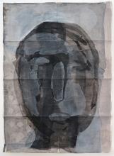 O.T. 1995 tusche, Gouache, Papier 174 x 125 cm