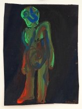 O.T. 1995 Mischt., Nessel 22 x 16,5 cm
