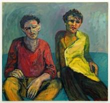 2 Jungs 1984 Öl, Nessel 130 x 140 cm