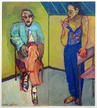 Paar in Ecke 1995 Öl, Nessel 200 x 180 cm
