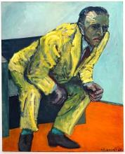 Gelber Anzug 1987 Öl, Leinen 180 x 145 cm