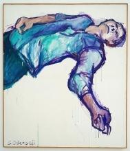 Toter 1 1981 Acryl, Nessel 165 x 142 cm